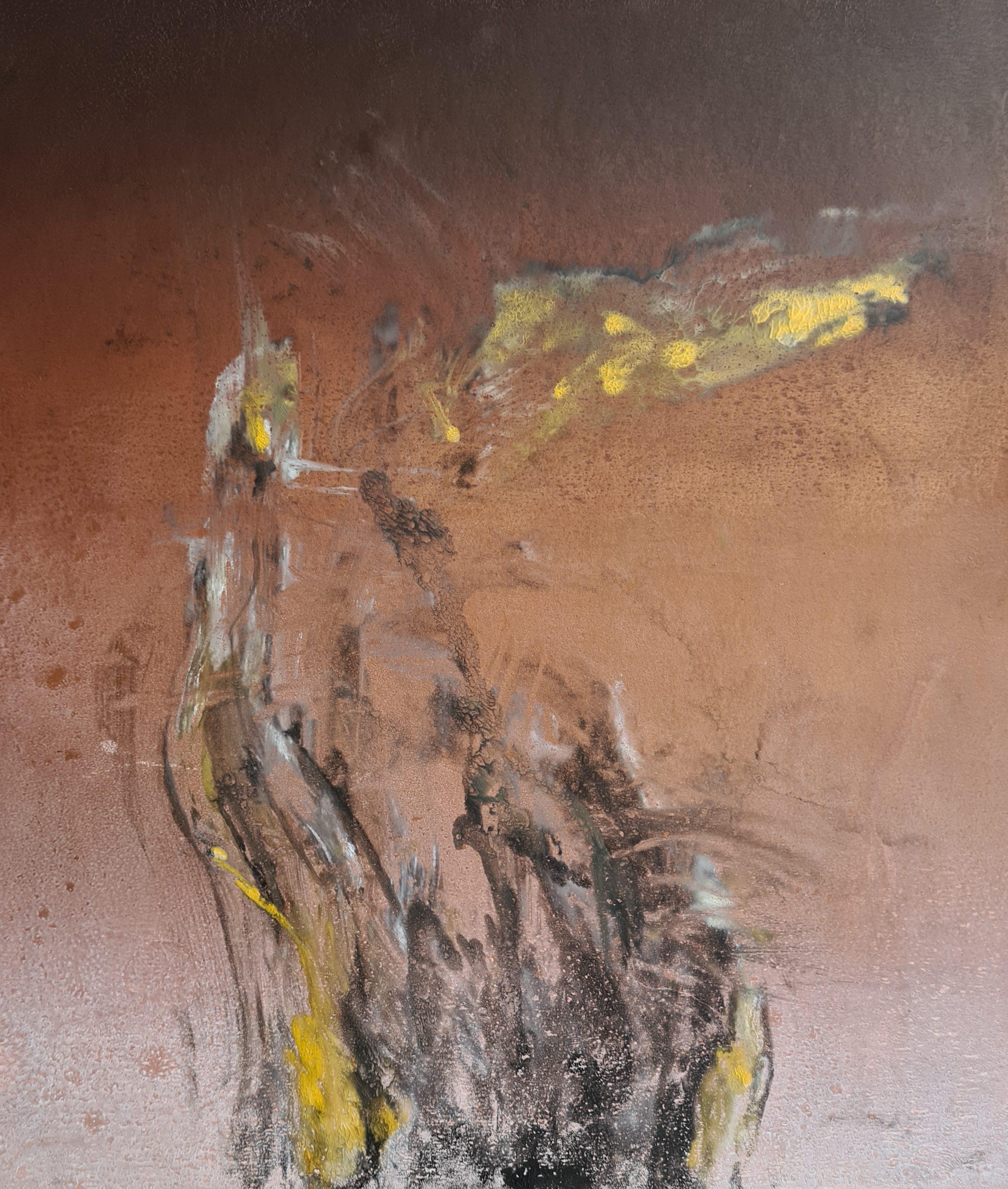 Stump #183 (ghost) in progress, Monoprint, (not available )