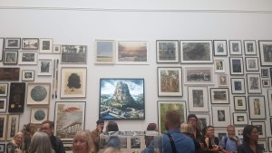 'Up Shit Creek' (top, centre) on display at the RA Summer Show in 2019