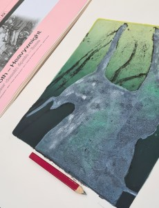 Stump #205 (Ghost), Monoprint, 36cm x 30cm, viewed from bottom right