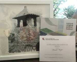 'Alcala', Silkscreen, 30cm x 30cm. Winner of the NOPE 'Great Art Prize' 2018