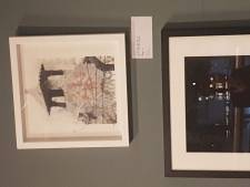 Alacala on display at the Woolwich Contemporary Print Fair 2018