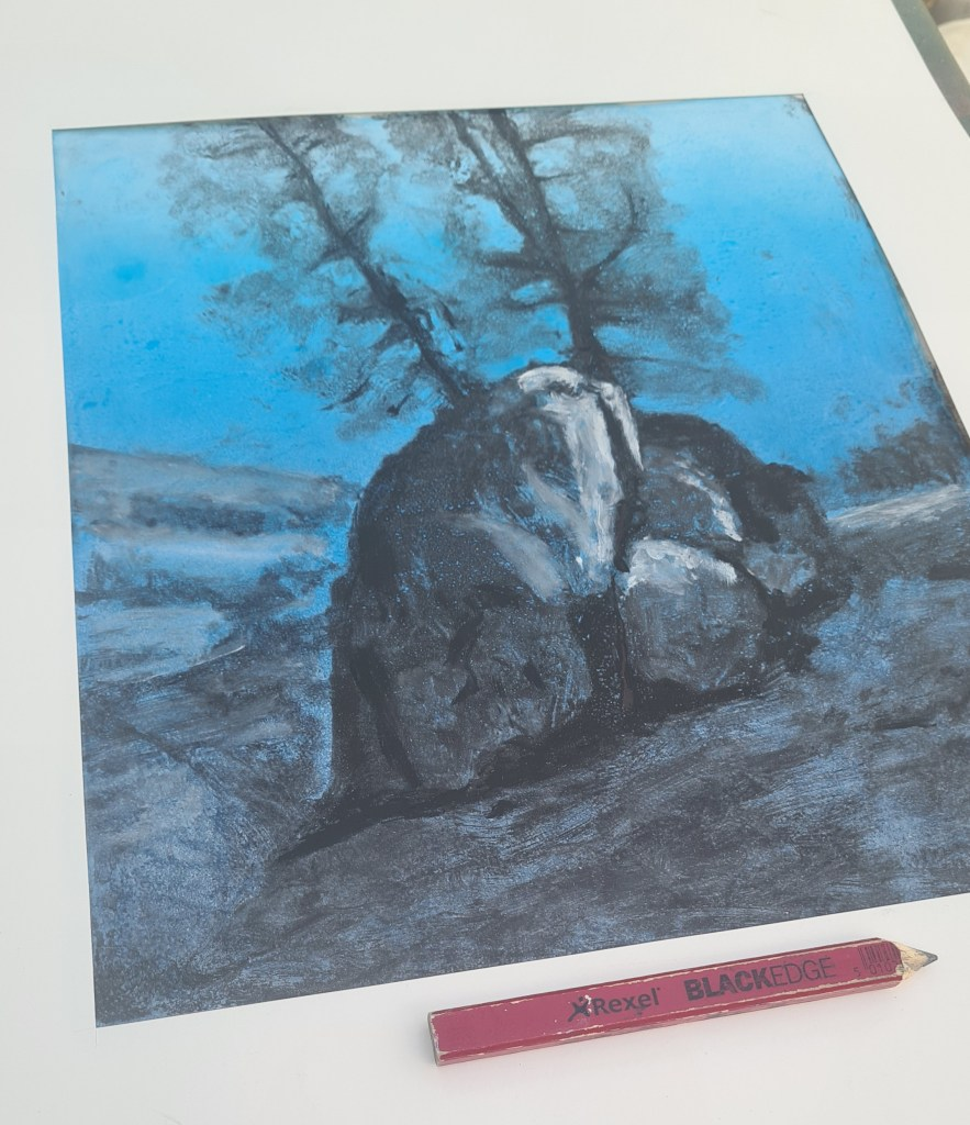Ojai #20, Monoprint, 30cm x 35cm